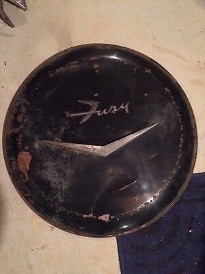 1950`s 60`s Plymouth Fury Spare Tire Cover / Trim / Emblem / Continental Tire
