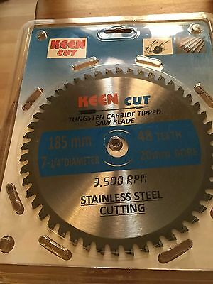 """Pack of 10, Keen #63375, 7.25""""(185MM) Stainless Steel Cutting Saw Blades"""