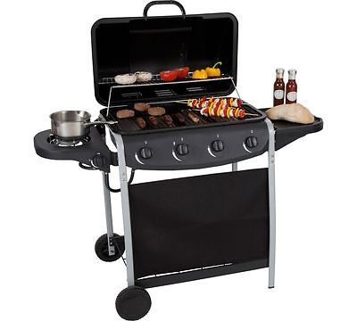 4 Burner Propane Gas BBQ with Side Burner