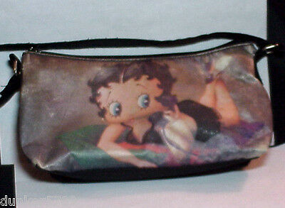 8 1/2 Inch Betty Boop Cloth Purse Bag King Features Syndicate