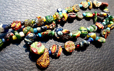 Collectible Extremely Fine Ancient SUper Old Mosaic Mix Glass Bead Collection
