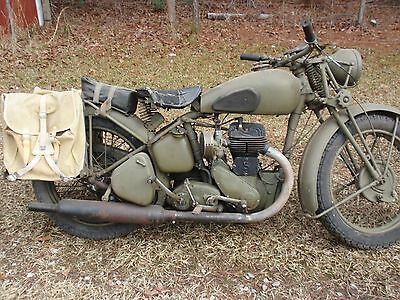 WWII BSA M20 Motorcycle