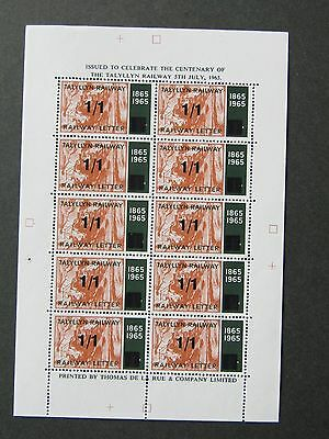 Tal-y-llyn Talyllyn Railway Letter Stamps1966 Terence Cuneo COLOUR TRIAL1/1Black