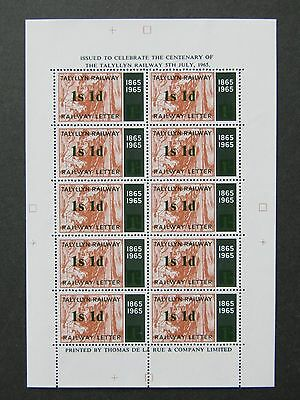 Tal-y-llyn Talyllyn Railway Letter Stamps1966 Terence Cuneo COLOURTRIAL1s1dGreen