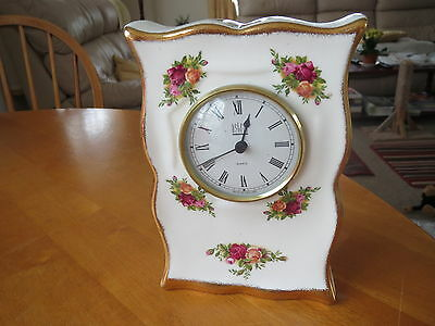 Royal Albert Old Country Roses Mantle Clock Astral 1St Quality