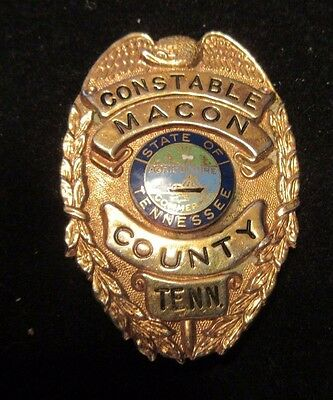 Obsolete Vintage Constable Badge Macon County Tennessee