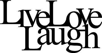 DXF CNC dxf for Plasma Laser Live Laugh 2 Vector Metal Wall Art Dxf