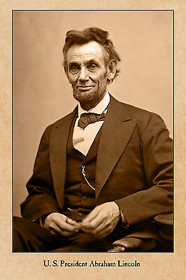 CIVIL WAR VINTAGE PHOTOGRAPH A++ Reprint President Abraham Lincoln CARD CDV