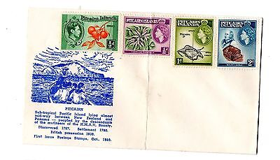 Pitcairn Islands on an envelope but not franked has stamps from George VI & QEII