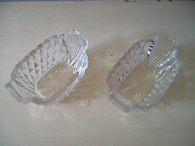 A Pair Of Hand Made Antique Crystal Open Salt Cellars - Large
