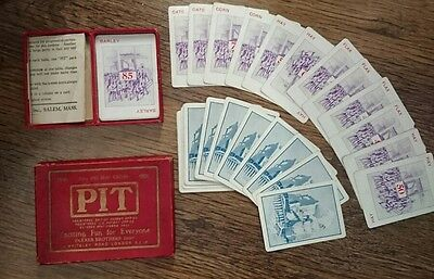 Pit Parker Brothers. Bull and Bear Edition. Vintage Card games. Rare. British.