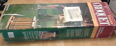 New Vintage Forster Croquet in Box 6 Player Portland Park Set In Open Box