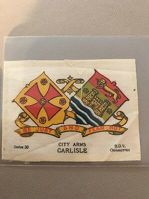 silk BDV Phillips Town And City Arms Small Size  Carlisle