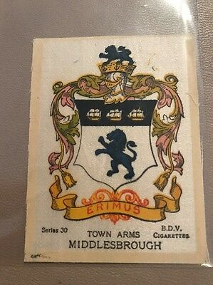 silk BDV Phillips Town And City Arms Small Size  Middlesbrough