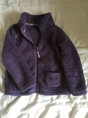Mini Boden Girls Fleece Zip-Through: Age 5-6 Years.