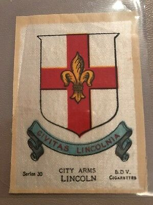 silk BDV Phillips Town And City Arms Small Size  Lincoln