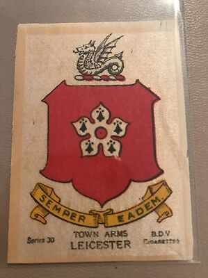 silk BDV Phillips Town And City Arms Small Size  Leicester