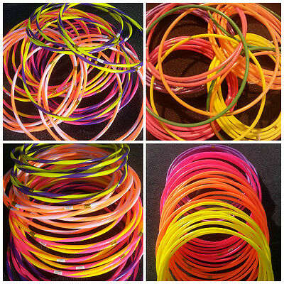 SMALL LARGE Stripe HULA HOOPS DURABLE PLASTIC KIDS ADULTS FITNESS GARDEN NEW FUN