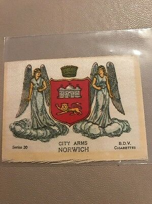 silk BDV Phillips Town And City Arms Small Size  Norwich