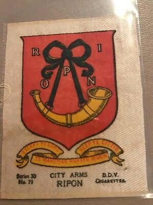silk BDV Phillips Town And City Arms Small Size  Ripon