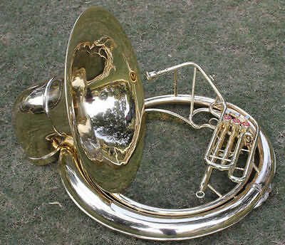 Tuba Sale Brass Finish 25 Inch_Best Item Sell On Ebay Bb Tuned Pro Susaphone