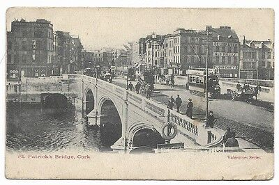 OLD 1908 PRINTED PC, ST. PATRICK'S BRIDGE, CORK. very animated. 148