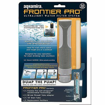 Aquamira Frontier Pro Water Filter with Replacement Bacteria Filter