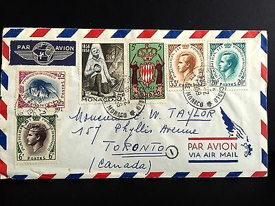 Monaco Airmail Cover 1959 To Canada.