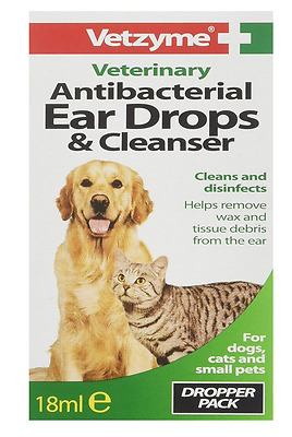 Ear Drops Dog Antibacterial Medical Pet Animal Cat Wax Remover Clean Infection