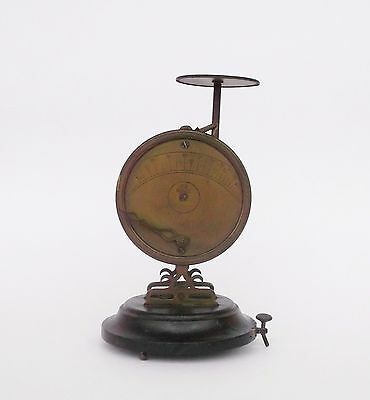Rare Antique French N. B. Brass And Wood Letter Scale Balance