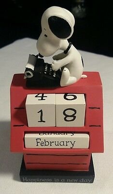 Peanuts Snoopy Doghouse Happiness Hallmark Day Perpetual Calendar