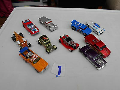 Hot Wheels . Diecast Collection Of Model Cars (10)