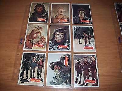 1975 Topps Planet Of The Apes  Tv Series Trading Cards 66 Full Set