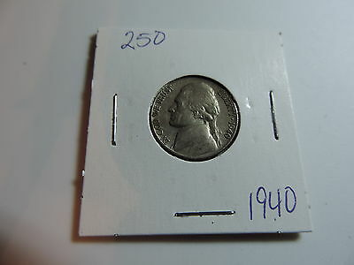 1940 US American Nickel coin A558