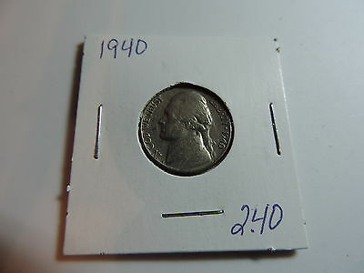 1940  US American Nickel coin A605