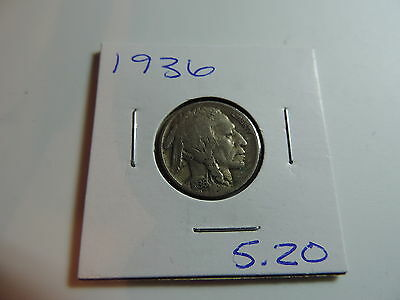 1936 US American Nickel coin A515