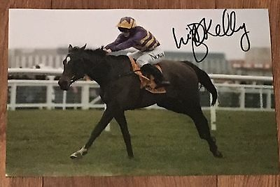 Signed Lizzie Kelly 12x8 Photograph Agrapart Cheltenham Relkeel Hurdle Proof