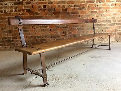 Sensational Antique School Bench French Solid Ash Victorian 19th Century Rustic