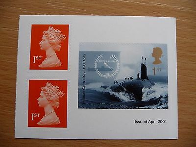 G.B. Submarine 2001 stamp self adhesive from PM2  stamp booklet  SG 2207