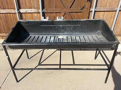 "Delta-1 The Sink II Darkroom Tray Tub black ABS plastic 72""_used good working!"
