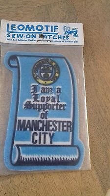 Manchester city FC sew on patch badge