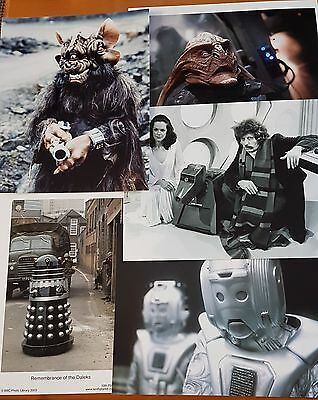 Dr Who Job Lot of 10 Assorted Photographs (All 10 x 8) ONLY £10 Lot 1