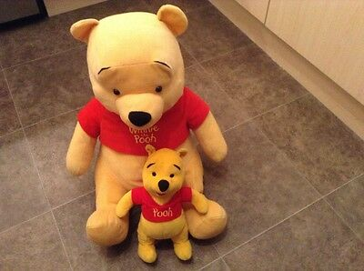 Pair Of Little And Large Winnie The Pooh Soft Toys