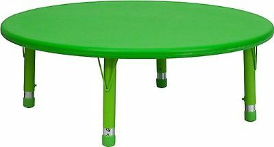 Flash Furniture YU-YCX-005-2-ROUND-TBL-GREEN-GG 45-Inch Round Height Adjustab...
