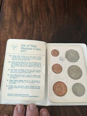 Isle of Man 1971 Uncirculated Coin Set in Plastic Holder