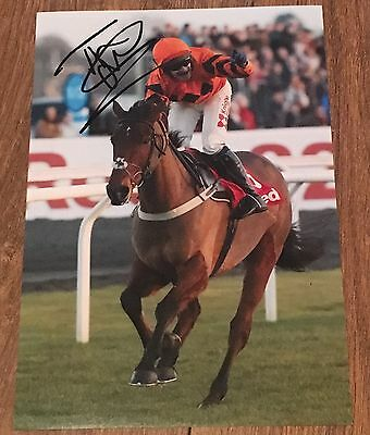 Signed Tom Scudamore & Thistlecrack 12X8 Photograph King George VI 2016 Kempton