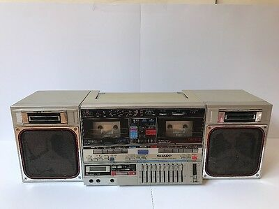 SHARP GF-800 Radio Cassette Boombox ghetto player. Faulty. For Repair Or Parts