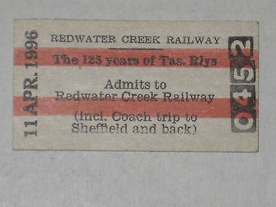 Redwater Creek Railway Admittance Ticket - Australia, 1996