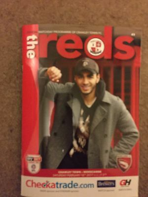 CRAWLEY TOWN v MORECAMBE Programme 18 February 2017 SkyBet League Two