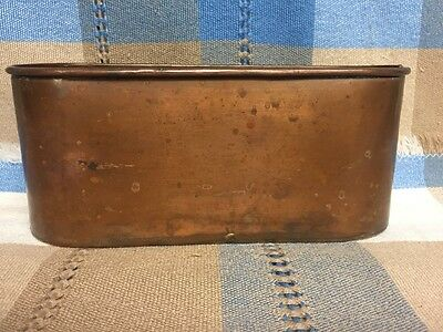 Smith And Hawken Hand Dovetailed Copper Oval Container Turkey Antique